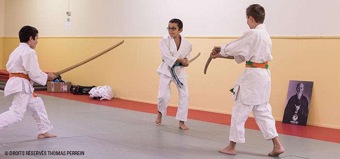 enfants aikido bokkens