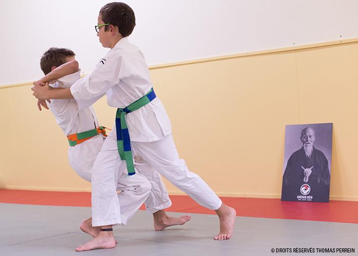 aikido enfants shiho nage