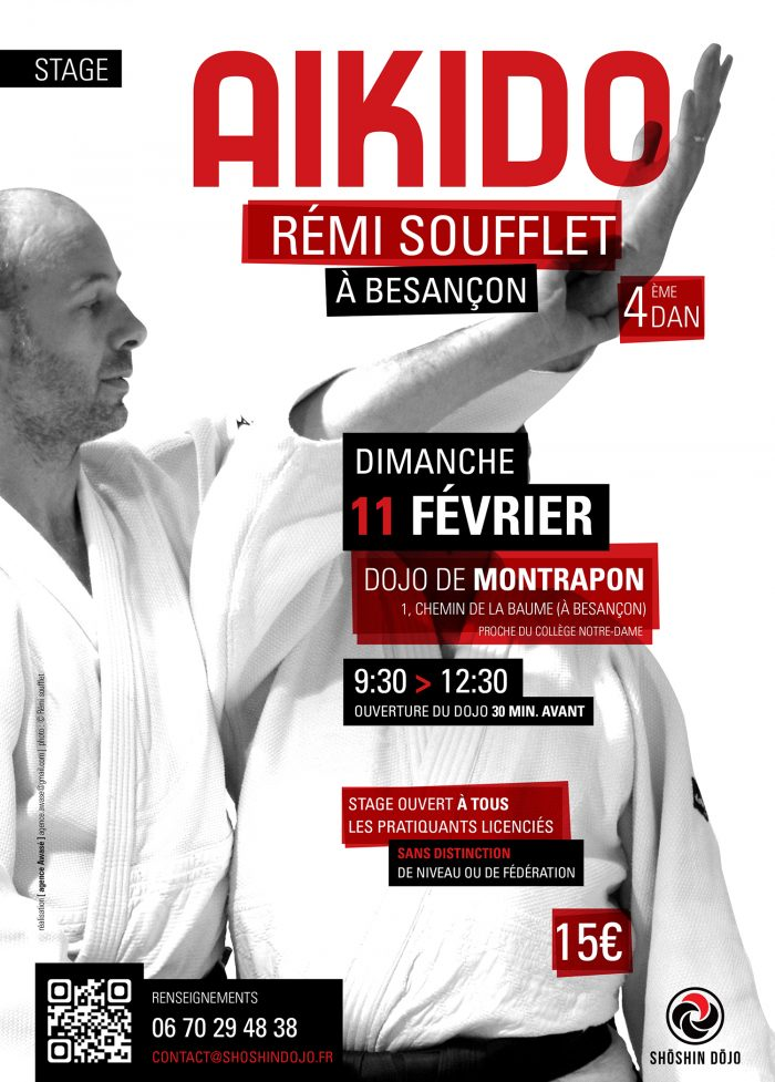 affiche stage aikido Rémi Soufflet