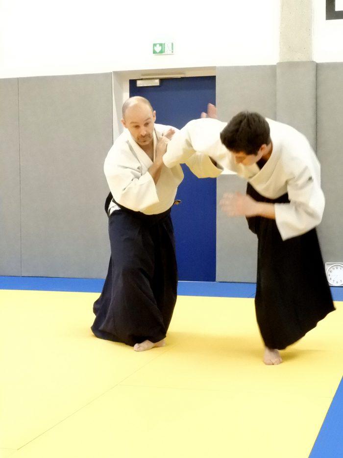 Rémi Soufflet aïkido à Besançon ikkyo
