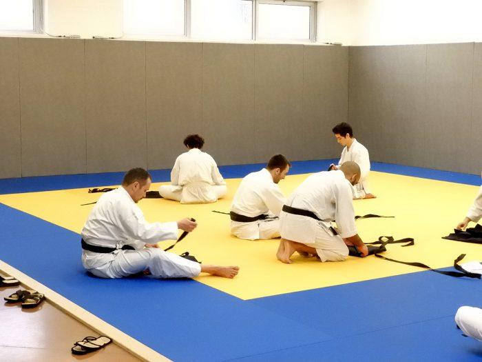 stage aïkido pliage du hakama