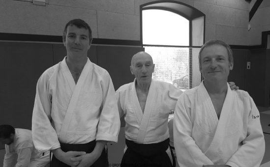 Thomas Gavory (5ème dan et membre du CTN), Alain Royer (7ème dan et DTR de la Ligue Rhône-Alpes Auvergne) ; et enfin Luc Mathevet (6ème dan)