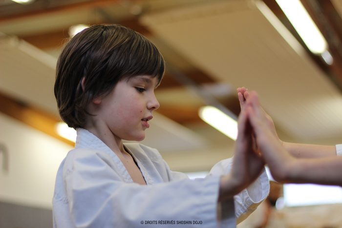 shoshin_aikido_stage_enfants_besançon_exercice_contact_abel