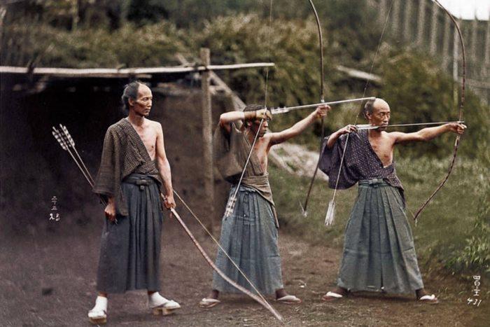 archers samouraïs vers 1860