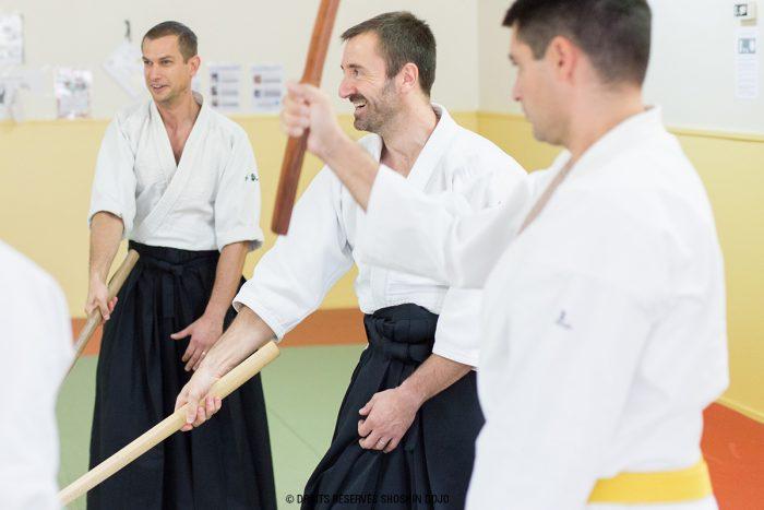 shoshin_aikido_besançon_enseignant_romuald_exercice_bokken