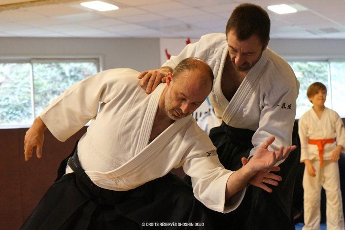 Rémi Soufflet et Rémi Soufflet, professeur d'aïkido au Shoshin Dojo Besançon
