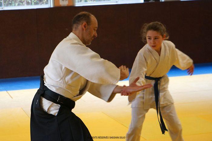 Rémi et Marion stage d'aïkido à Besançon