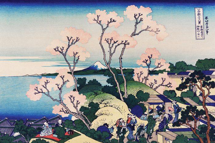 Goten-Yama Hill, Shinagawa on the Tokaido by Katsushika Hokusai
