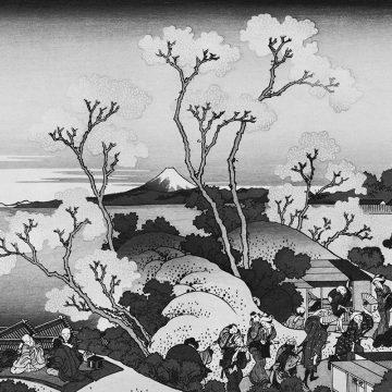 Goten-Yama Hill, Shinagawa on the Tokaido by Katsushika Hokusai_nb