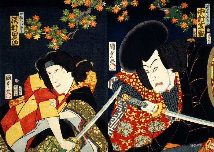 portrait d'acteurs par Toyohara Kunichika