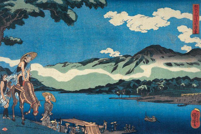 estampe paysage japonais