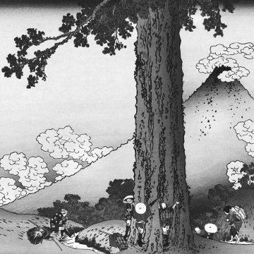 Katsushika Hokusai_mishima_province_de_kai_nb