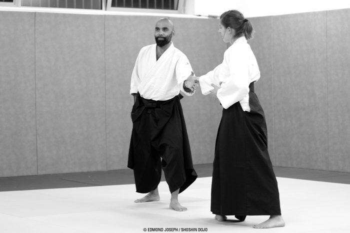 Alban professeur d'aïkido à Besançon